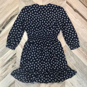 Draper James Dresses - NWT Draper James Floral Peasant Dress Medium Navy